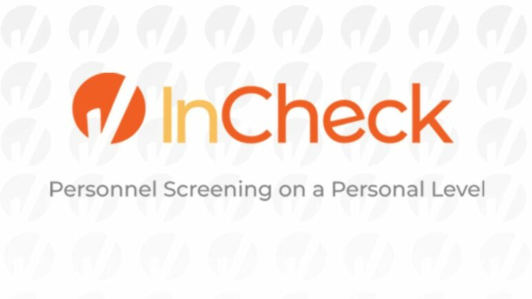 InCheck orange and yellow logo with tagline below