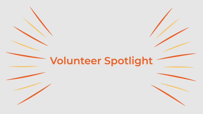 Volunteer spotlight title with design