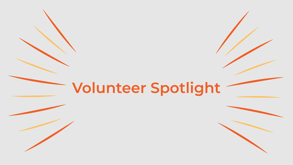 Volunteer spotlight title with design